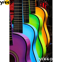 Full Square/Round drill diamond Painting Colorful guitar 5D DIY diamond embroidery mosaic Decoration painting AX0111 full square round drill diamond painting birds of prey 5d diy diamond embroidery mosaic decoration painting ax0111