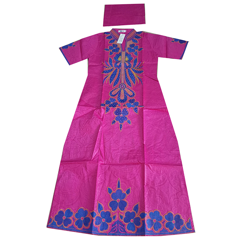 MD african traditional dress for women african printing dresses bazin riche headtie south africa clothes 2019 new kaftan dresses in Africa Clothing from Novelty Special Use