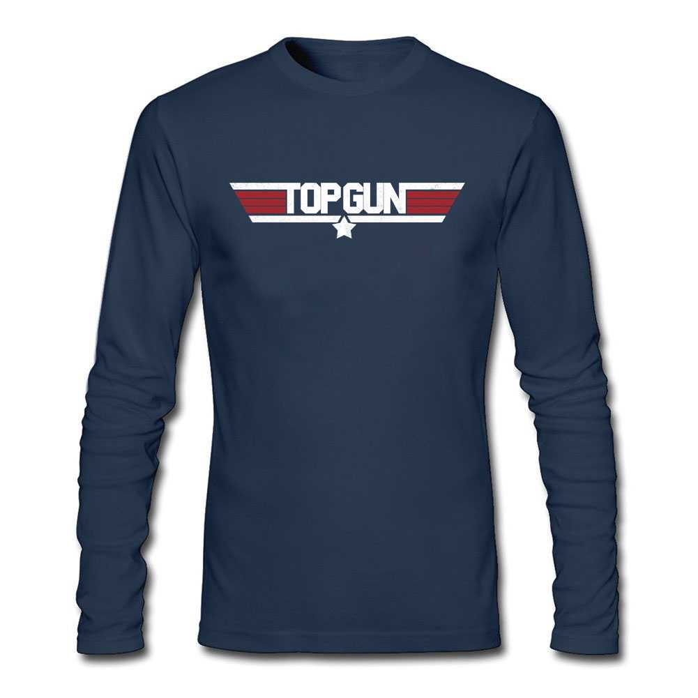 2019 Top Gun T-Shirt Maverick T Shirt Long Sleeve Custom T Shirt Men's Stylish Fit Long Sleeved autumn Shirts Men's  Fan Apparel