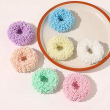 Аппетитных цветов плюшевая повязка для волос обтянутая тканью;