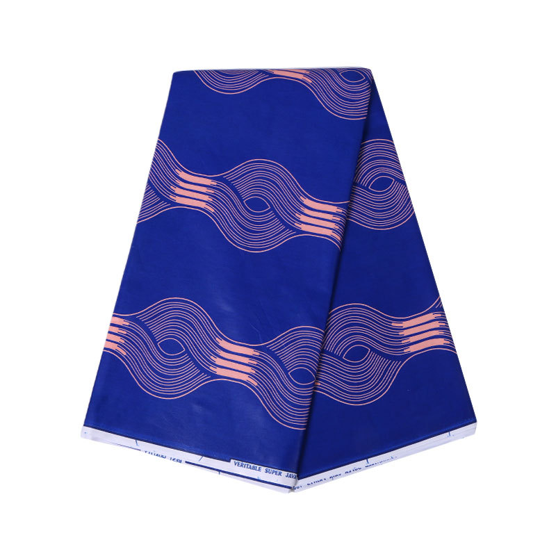 100% Cotton Blue African Print Fabric Veritable Dutch Wax High Quality