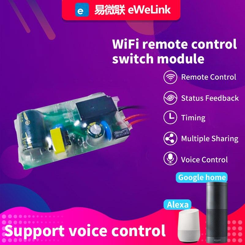 EWeLink WI-FI светильник Модуль автоматического включения света 180-240V DIY один выключатель модификации модуль без нейтральный работать с Alexa Google Home