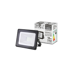 Reflector led de 10 w, 6500 K, IP65, negro, popular led