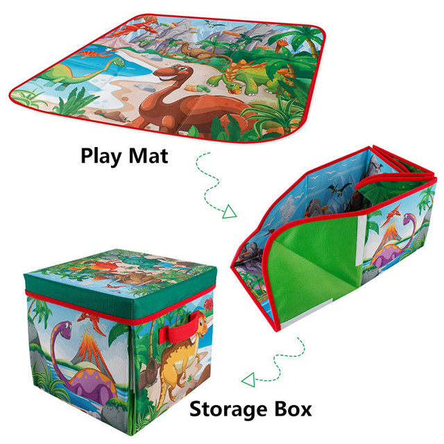 2 in 1 Foldable Cartoon Baby Play Mat Children's toy Storage Bag Baby Climbing Pad Kids Rug Baby Games Mats