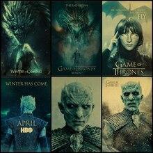Compra tres para enviar un Juego de tronos 7 Night's King dragon póster de series de TV vintage kraft decoración del hogar pintura