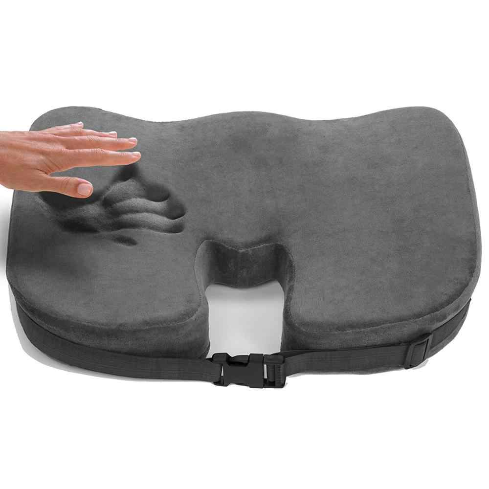 Kuyruk sokumu bellek köpük sandalye ortopedik yastık ofis koltuk pedi hemoroid tedavi araba koltuğu büyük yastık kabartma ağrısı Tailbone yastık