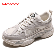 2019 New Vintage Sneakers Women Shoes Ladies Chunky Platform Casual Beige Dad Snakers Ugly Trainers chaussure femme