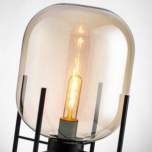 Image 3 - 북유럽 복고풍 플로어 조명 거실 서 조명 홈 장식 설비 철 유리 조명 침실 플로어 램프
