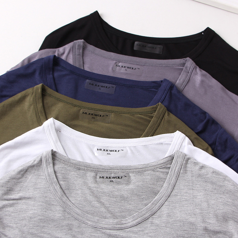 Spring Summer Thin Men's Homewear Plus Size Casual Sleepwear Tops Comfortable Modal Loose Home Clothes Long Sleeve Sleep Tops