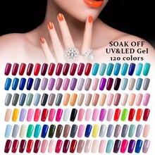 Modelones 120 kolory 7ML pełny zestaw żel do paznokci UV DIY żelowy lakier do paznokci zestawy Led lampa Soak Off UV paznokci podkład darmowa wysyłka
