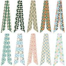 Ретро шарф с геометрическим рисунком различные мешок ручки связанный