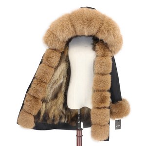 Image 2 - OFTBUY 2020 Waterproof Outerwear Real Fur Coat Long Parka Winter Jacket Women Natural Fox Fur Hood Streetwear Detachable Brand