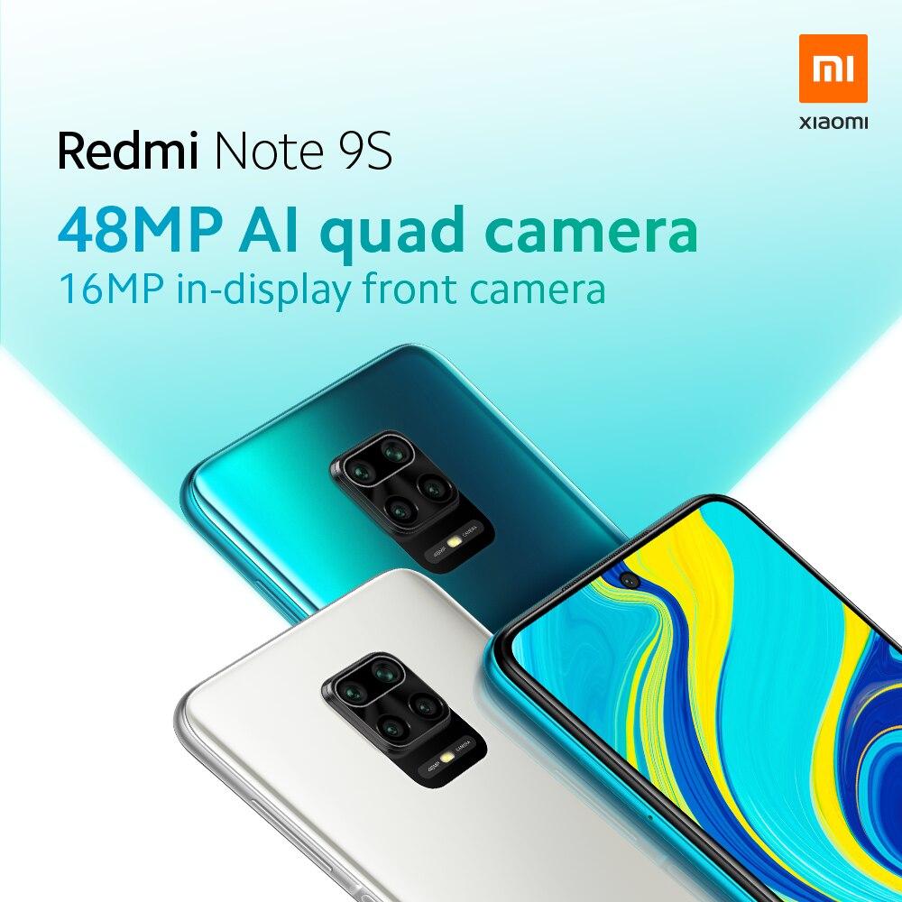Global Version Xiaomi Redmi Note 9S 9 S 6GB 128GB Smartphone Snapdragon 720G Octa Core 48MP Quad Camera 6.67\