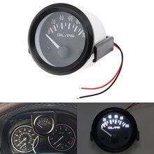 2 52MM 12V LED Electrical Car Oil Temp Gauge/Car Voltage Gauge/Water  Gauge/Ammeter Gauge Meter with pressure/Temper Senor