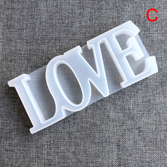 LOVE Resin Casting Mold Silicone Jewelry Making Epoxy Mould Craft DIY Decor