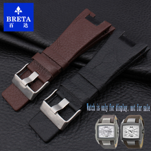 BRETA watch leather strap for diesel Watch band for DZ1216 DZ1273 DZ4246 stap Men Watch Accessories Bands+Tools 32*17(China)