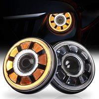for Nissan Patrol Y60 Hummer H1&H2 Lada 4X4 7inch LED Headlight DRL For Jeep Wrangler TJ JK LJ CJ 7inch for Land Rover Defender