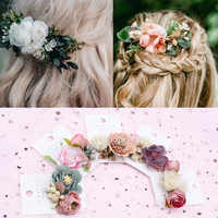 New Floral Hair Clips for Hair Women Boho Hairpins Artificial Flower Barrettes Hair Bows Bride Girls Hair Accessories