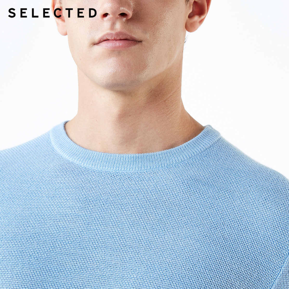 اختيار جديد الصوف مزيج الرجال البلوز محبوك س الرقبة سترة غير رسمية الملابس S | 418424508