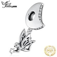 """JewelryPalace 925 пробы серебро верю Чарм """"Фея"""" бусины для браслетов модные подарки для Для женщин/Распродажа одежды для девочек красивые украшения"""