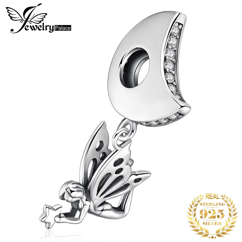 JewelryPalace peri melek 925 ayar gümüş boncuk Charms gümüş 925 orijinal için bilezik gümüş 925 orijinal takı yapımı