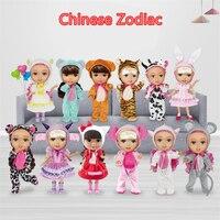 Baby Dolls Set Kids Toys DIY Manual Music Kids Birthday Gift for Girls Joints Change BJD Doll