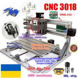 Mini enrutador CNC para manualidades UGR 3018 área de trabajo de control GRBL 300x180x45mm fresadora de Pcb de 3 ejes enrutador de madera CNC
