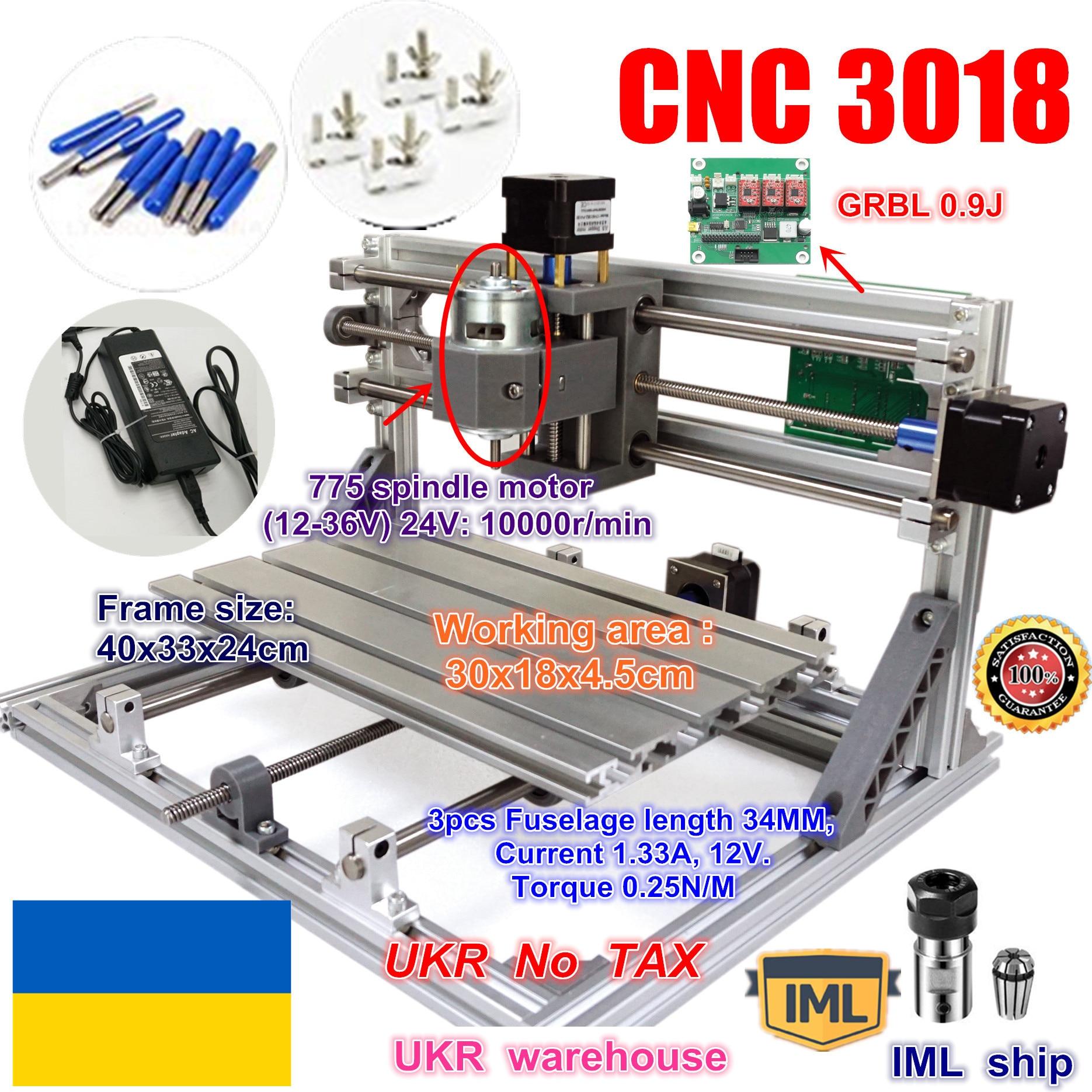 UKR DIY mini CNC router maschine CNC 3018 GRBL control arbeits bereich 300x180x45mm 3 Achse pcb fräsmaschine CNC Holz Router