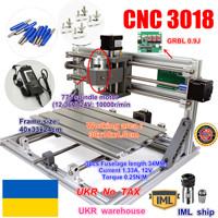 UKR DIY mini CNC router machine CNC 3018 GRBL control working area 300x180x45mm 3 Axis Pcb Milling machine CNC Wood Router