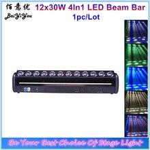 1 pc/lote nova brilhante 12 pçs 30 w rgbw 4in1 led pixel barra de feixe 12x30 w movente cabeça vassoura feixe dj discoteca luz do estágio