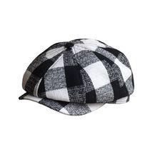 Newsboy Caps British mens casual octagonal painter hat beret Plaid Cap Hats Men Ivy cowboy Summer Golf Driving caps plaid