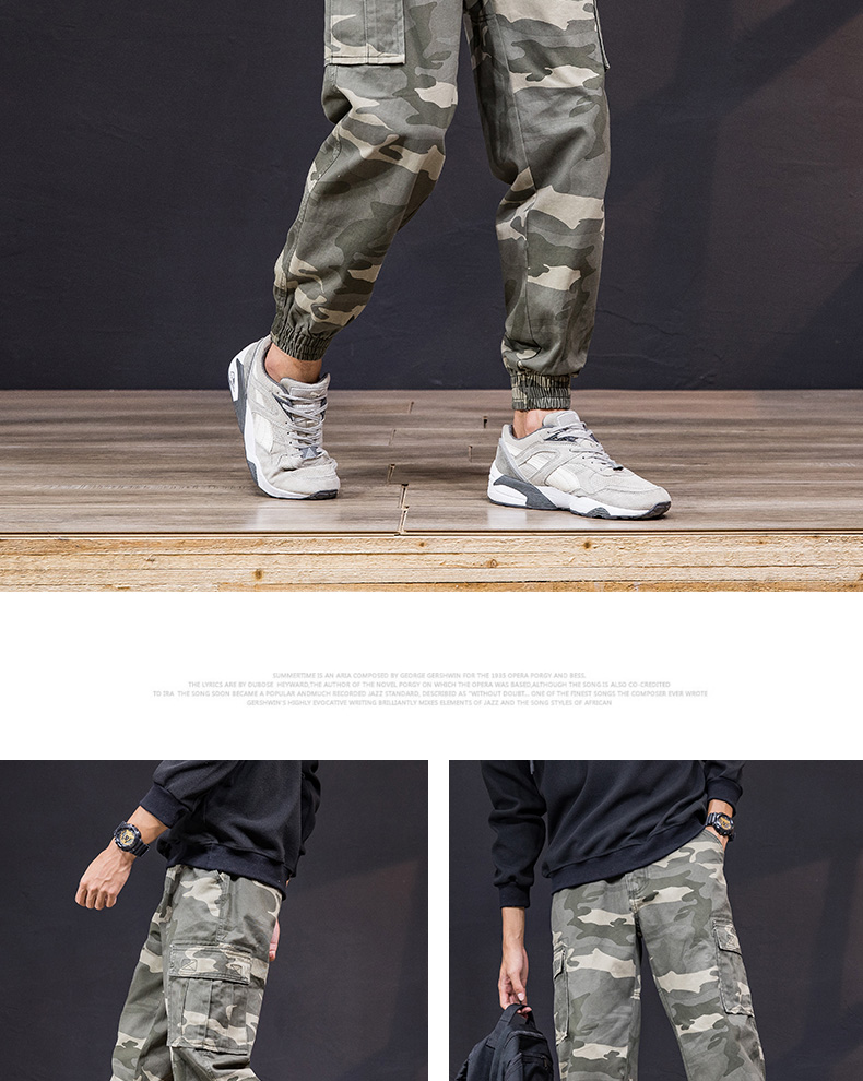 KSTUN Cargo Pants Men 100% Cotton Baggy Military Pants Khaki Camouflage Pants Casual Man Trousers Loose fit Streetwear Men Joggers 18