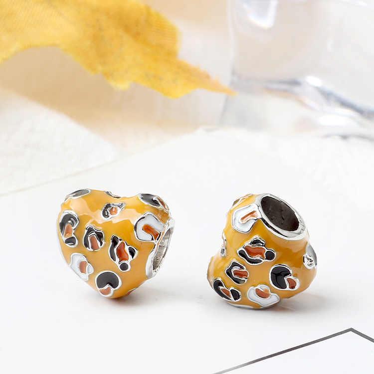 จัดส่งฟรี Apple บอลลูนดอกไม้ Lucky Clover จี้ Diy Bead Fit สร้อยข้อมือ Pandora สร้อยข้อมือ Charms กำไลข้อมือสร้อยคอสร้อยคอของขวัญ