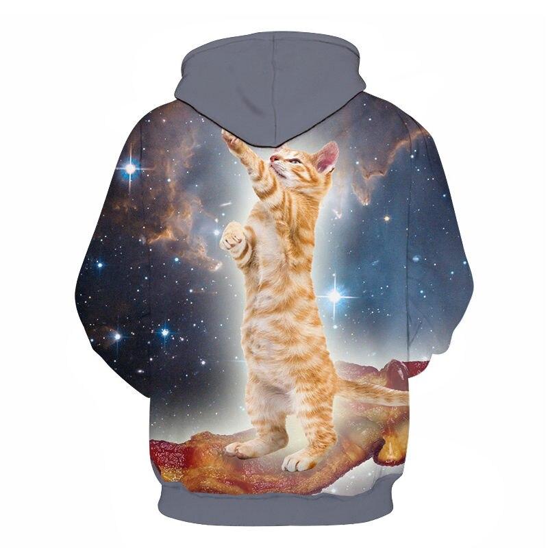 Women's Two Cat Sweatshirts Long Sleeve 3D Hoodies Sweatshirt Pullover Tops Blouse Pullover Hoodie Poleron mujer Confidante Tops 78