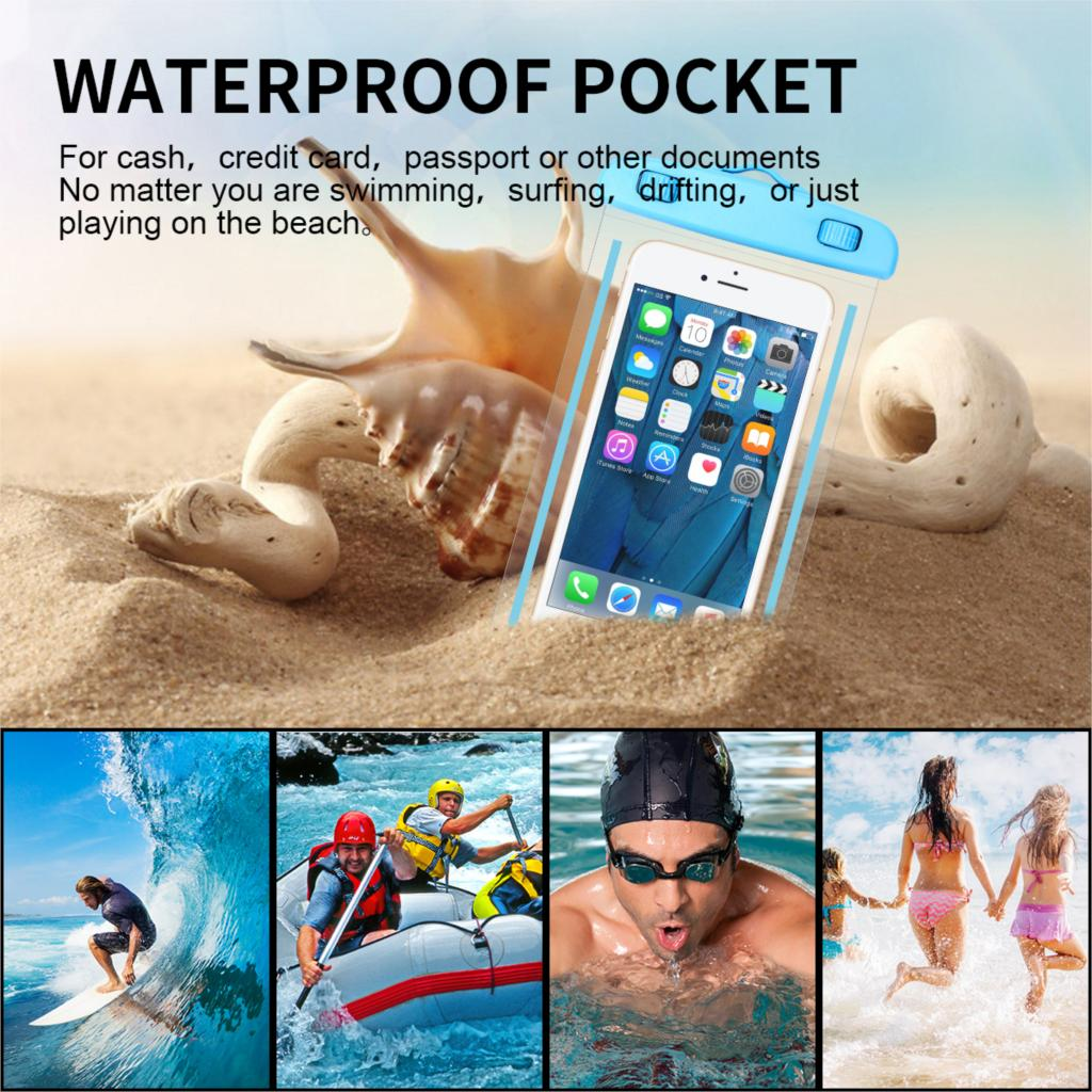Luminous Mobile Phone Waterproof Bag