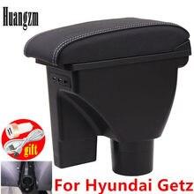 Para hyundai getz caixa de apoio de braço duplo-camada cinto 3usb carro universal central caixa de armazenamento de braço