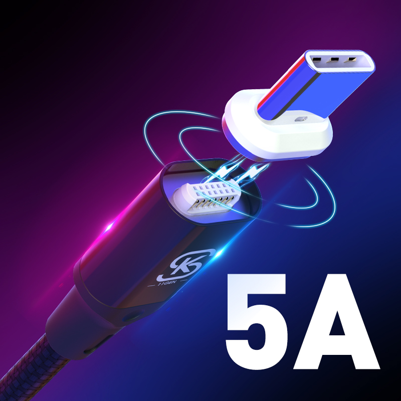 Car Magnetic USB Charging Cables 5A Type C Super Quick QC 4.0 For Huawei p20 lite plus Huawei Mate 20 Pro Honor 10 phone SIKAI|Mobile Phone Cables|   - AliExpress