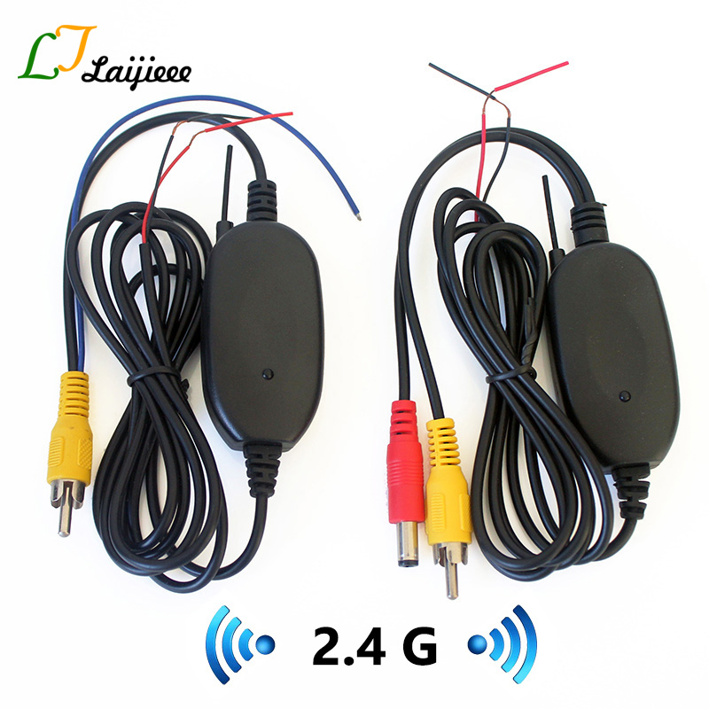 2.4G Wireless Transmitter Receiver For Car Reversing image Rear view Backup Camera / RCA & 2.5mm AUX Interface|Vehicle Camera| |  - title=