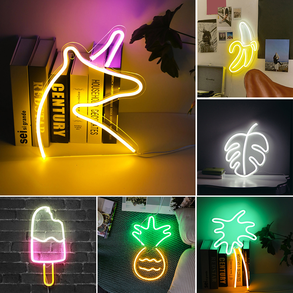 Word Sign Wedding Party Wall Hanging Led Art Bar Decoration Photography Prop Shop Window Atmosphere Neon Light Home USB Powered