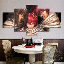 Unframed 5 Piece Naruto Anime Art Painting Sasori Family Wall Picture for Home and Living Room Decor Canvas Cartoon