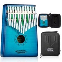 Gecko kalimba 17 клавиш кудрявый кленовый большой палец фортепиано