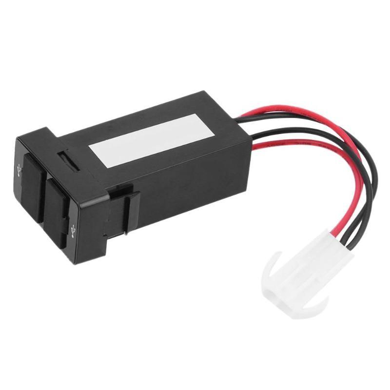 Double chargeur De voiture USB adaptateur d'alimentation USB Cargador De Baterias pour Automovil Ladowarka Samochodowa prise De tableau De bord pour Toyota