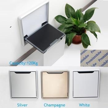 Thin Wall Mount Aluminum Alloy Folding Seat Stool Soft Slow Motion Bathroom Closet Cloakroom Vestibule RV