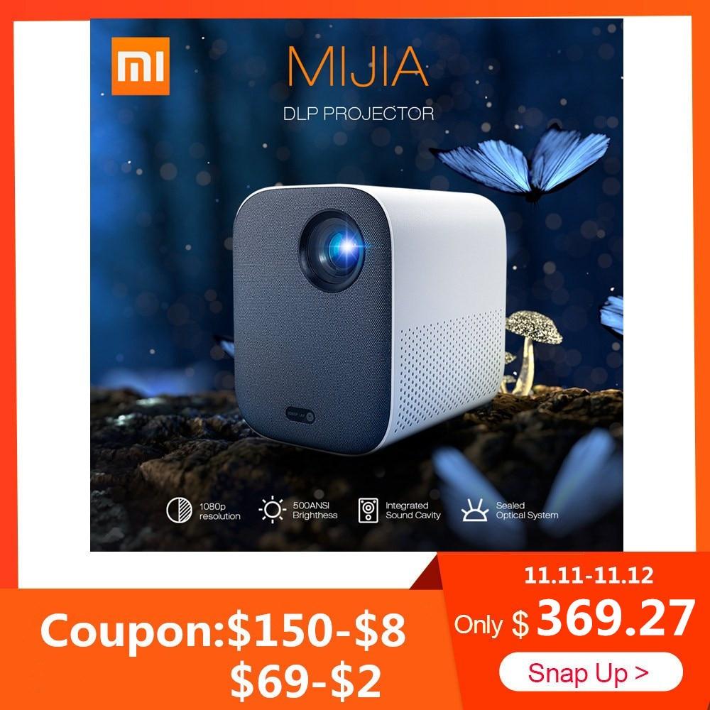 2019 Xiaomi Norma Mijia Mini Proiettore DLP 1080P Full HD AI Vocale A Distanza di Controllo 500ANSI 4K Video 3D WIFI Proyector Proiettore Portatile