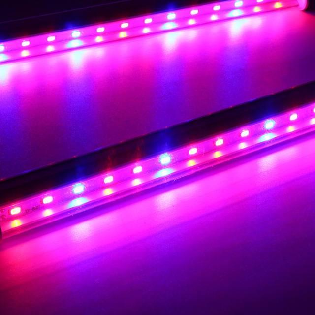 5 w 1 30CM T5 świetlówka led lampa led stymulująca wzrost roślin sztywny pasek rosnące światła SMD5730 hydroponicznych kryty Veg kwiat roślina zestaw lampowy 85-265V tanie i dobre opinie Smuxi ROHS T5 led tube Aluminium High brightness Żarówki led 85-265 v Rosną światła other US EU AU plug