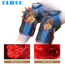 2 2pc/ペア電気膝関節ブレース電気脚加熱理学療法サポート膝蓋骨温湿布療法 MassagerArthritis