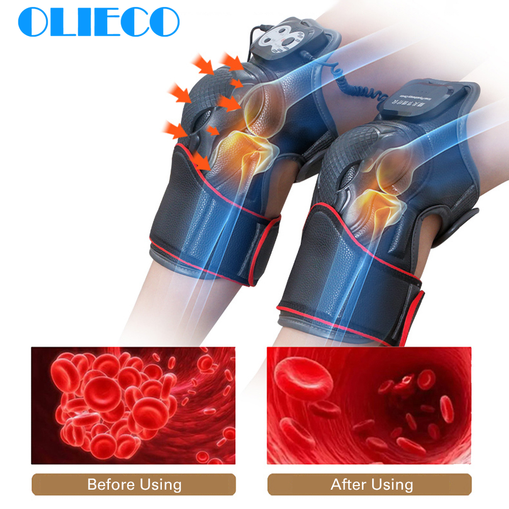 2pc/pair Electric Knee Joint Brace Electrical Leg Heating Physiotherapy Support Kneecap Hot Compress Therapy MassagerArthritis