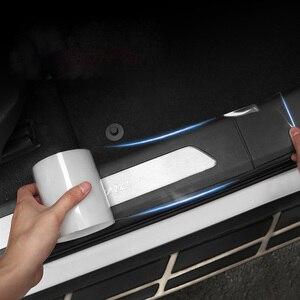 Image 1 - Auto Aufkleber Auto Innen Protector Film Tür Rand Schutzhülle Nano Kleber Auto Stamm Tür Sill Volle Körper Aufkleber Vinyl Zubehör