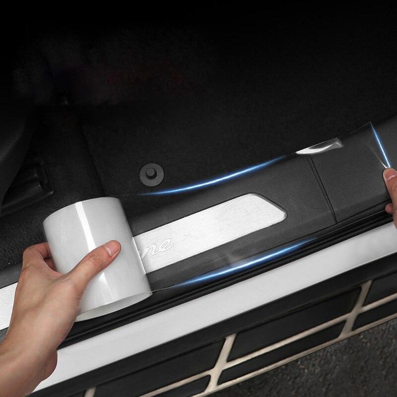 Car Stickers Auto Interior Protector Film Door Edge Protective Nano Glue Car Trunk Door Sill Full Body Sticker Vinyl Accessories(China)