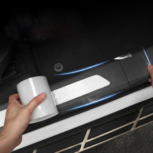 Car Stickers Auto Interior Protector Film Door Edge Protective Nano Glue Car Trunk Door Sill Full Body Sticker Vinyl Accessories